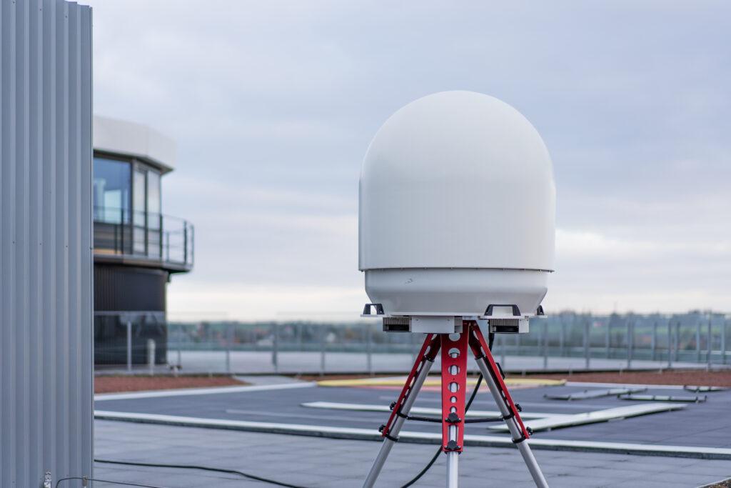 ART Midrange 3D drone detection radar on DronePort
